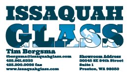 Issaquah Glass business card