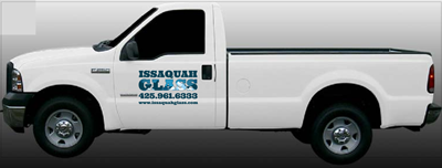 Issaquah Glass signage on truck