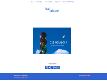 B2A Advisors website
