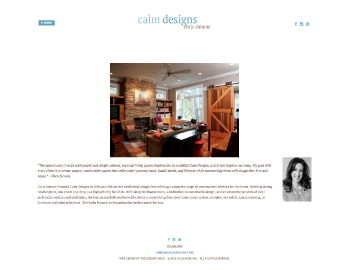 Calm Designs website