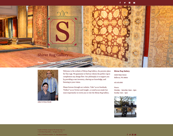 Shiraz Rug Gallery website