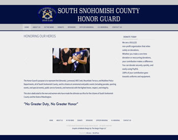 South Snohomish County Honor Guard website