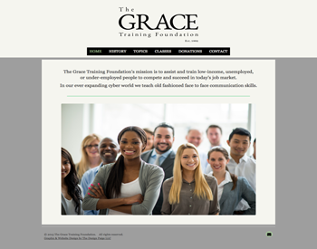 The Grace Training Foundation website